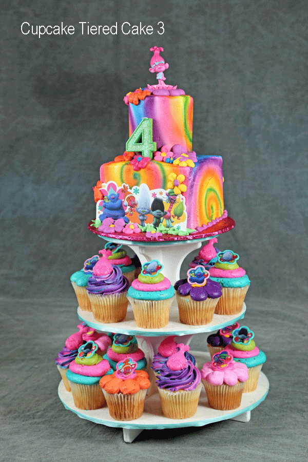 Number 3 Cupcake Cake Ice Cream Cup Cakes